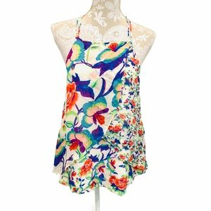 Maeve Anthropologie Floral Swing Tank Blouse 1993